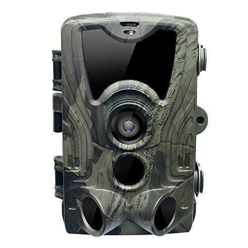 Peaches Stores HD Wildkamera 1080P Full 16MP Jagdkamera, Fotofalle 20m 120° Weitwinkel Vision Infrarote Nachtsicht Überwachungskamera Hunting Camera mit LCD Display