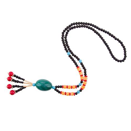Non-brand Monili del collar del colgante de la cadena larga de las perlas de las perlas étnicas del año #11