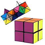 Autrix Magic Star Cube Transforming Geometric Puzzle Toys for Kids and Adults(2 Pieces)