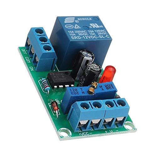 LXGANG Tablero de módulo Módulo de Entrada de energía DC 12V 3pcs batería Carga de la tarjeta de control inteligente del cargador de energía de alta eficiencia de control del módulo de conmutador auto
