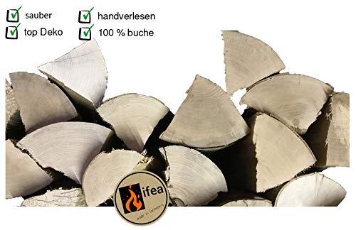 ifea Deko Holzscheite - Holzstücke Buche - Natur pur Dekoration - 10 kg - Kamin-Holz - Dekoholz Brennholz