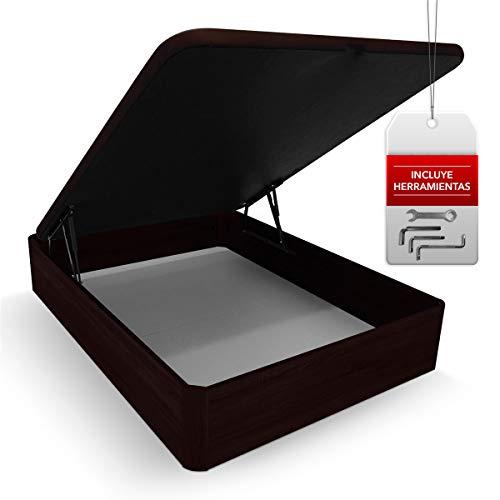 Somnia Descanso - Canapé Abatible Reforzado Gran Capacidad con Tapa Reforzada y Transpirable 105X190