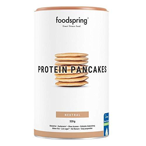 foodspring Pancake Proteici, 320 g, Preparato con pochi zuccheri e altamente proteico, per pancake soffici in 5 minuti, migliori per gusto e consistenza