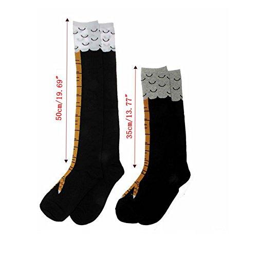 50cm//35cm 3D Cartoon Animal Socks With Chicken Print Toe Women Girls Animal Legs