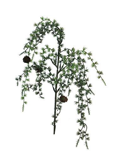 Kunstzweig Lärchen-Zweig INDY mit Zapfen 80cm Deko
