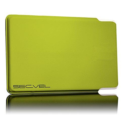 TÜV geprüfte und patentierte Schutzhülle 5-Fach Kartenschutz - Lemon | RFID NFC Blocker | Magnetfeld Abschirmung | Störsender für Kreditkarte, EC Karte, Personalausweis | 100% Aktiv Schutz