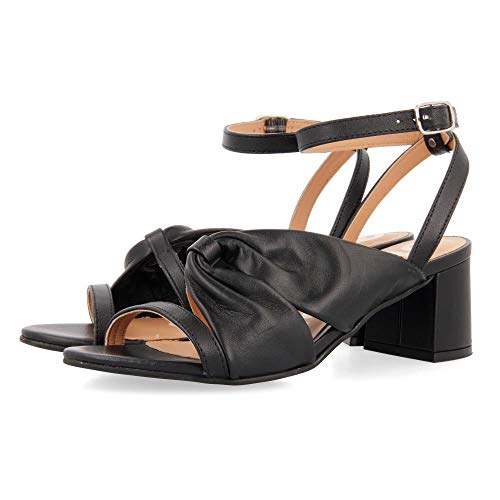 Gioseppo BIRDSALL, Zapatos de tacón con Punta Abierta Mujer, Negro, 38 EU