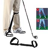 Amy Sport Golf Swing Trainer Leg Correction Belt Training Aid Post Orthotics Strap, Professional Poster Corrector for Men Women Golfer Beginners Practice