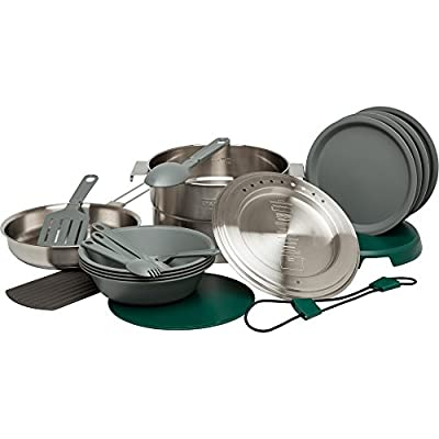 Stanley Adventure Base 4X Camp Cook Set, Stainless Steel, 3.5 L