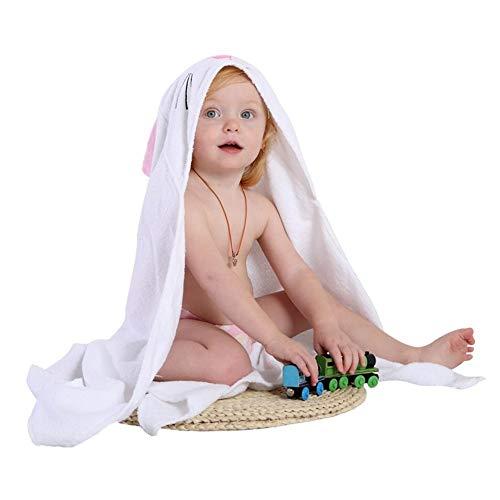 QWERBAM Toalla For Niños Albornoz De Algodón For Niños Pequeños Bebés Niñas Primavera Toalla De Baño con Capucha De Animales Toalla De Dibujos Animados For Niños For Family (Color : White Rabbit)