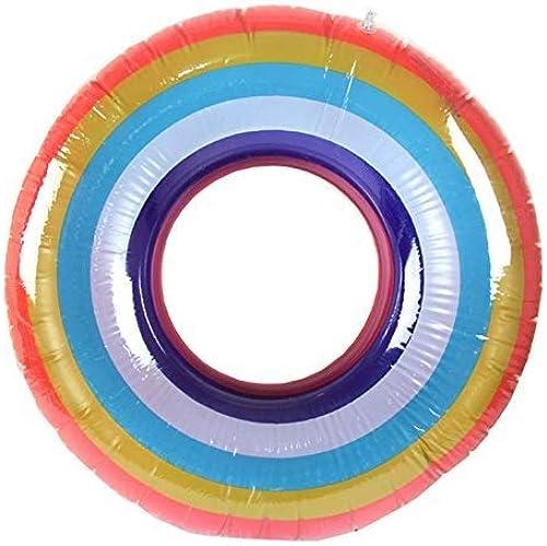 venta con alto descuento EGCLJ Anillo De Baño Inflable Rainbow - Anillo De Baño Baño Baño para Niños - Anillo De Baño En La Piscina - Anillo Flotante De Seguridad - para Adultos Y Niños (Tamaño   108cm)  mejor calidad mejor precio