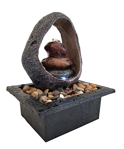 DANNER MANUFACTURING 03802 Halo Meditation Fountain with LED Rock Formation