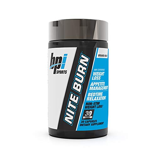 BPI Sports Nite burn – Fat Burner – Sleeping pill – Keto-Friendly – Weight Loss, Burn Fat, Relaxation, Boost Metabolism – 30 servings – 640mg