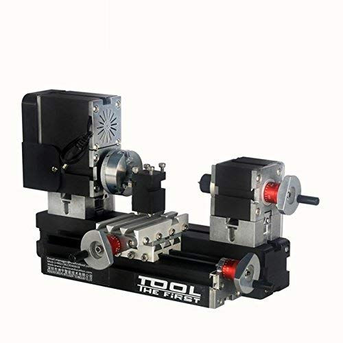 Lowest Prices! FJZ-FJZ Mini Metal Lathe Machine with 12000r/min 60W Motor Larger Processing Radius D...