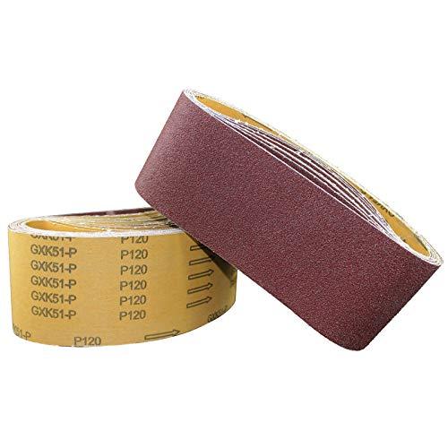 RWJFH Cinturón de arena 10 Uds 100 * 610mm cintas de lijado abrasivas papel de lija para lijadoras de banda amoladora de banco herramienta de pulido 40-8000 grano, 10 piezas 320 grano