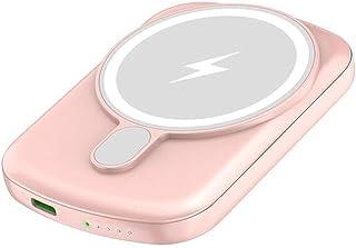 TWDYC Bärbar magnetisk powerbank, 15 W trådlös snabbladdare, 20 W Pd trådbundet externt batteri, kompatibelt med iPhone 1...