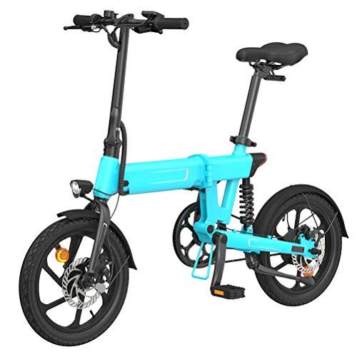 Fy-Light Bicicleta eléctrica de aluminio - Bicicleta eléctrica plegable de tres etapas con tres modos de trabajo Batería de litio extraíble incorporada