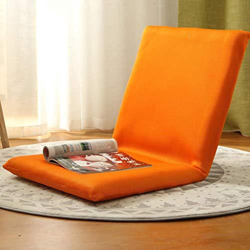 Yxxc Verstellbarer Bodenstuhl Lazy Sofa mit Rückenlehne Gaming Chair Bodenkissen Für Meditation, Lesen oder Fernsehen Orange 40x40x10cm (16x16x4inch)