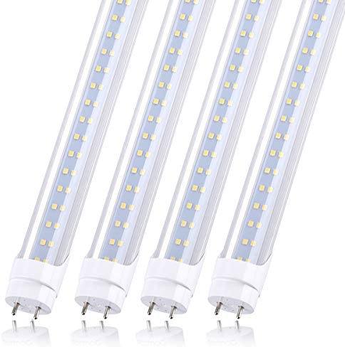 T8 4ft Led Tube Light Replacement 28w 5000k G13 2 Row Daylight White Bypass Ballast 80W Equivalent product image