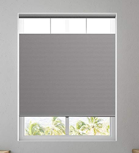 Affordable Blinds Cordless Shades Top Down Bottom Up Windows Blinds Cellular Shade, Any Size from 19' to 45' Wide and 24' to 84' Height - Silver