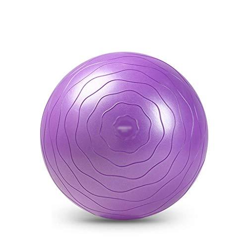 Pelota de gimnasia para yoga, balance y fitness, estabilidad fisioterapia y mejora el equilibrio, gruesa silla de yoga con bomba rápida, pelota de estabilidad antipinchazos, 65 cm, color morado