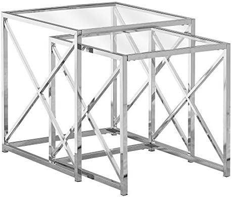 Best Monarch Specialties I NESTING TABLE, CHROME