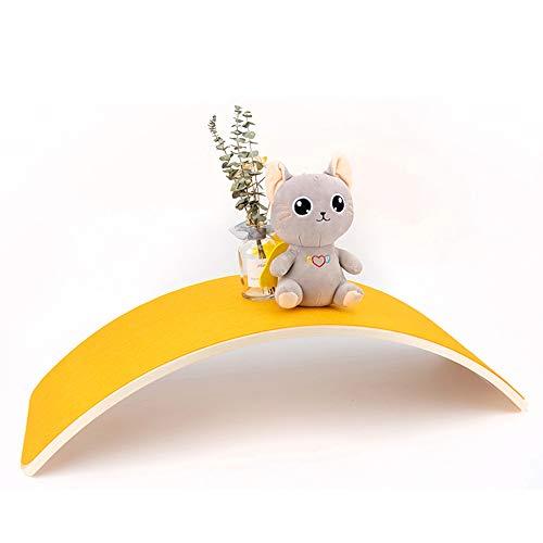 YYMM Tablero de balanceo de Equilibrio, balanceo de Madera con Curvas para niños, diseño, diseño Moderno, Deporte sostenible 100% Eco, para niños Adultos Deportes