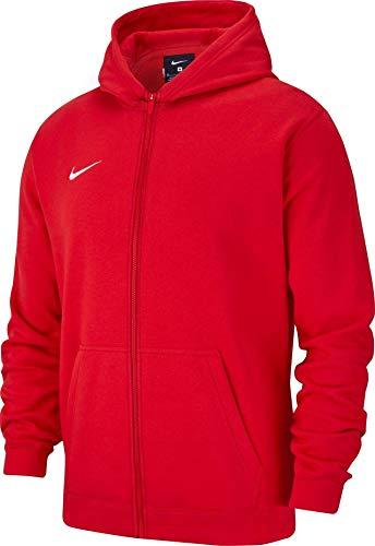 Nike Club19 Full-Zip, Felpa con Cappuccio Unisex Bambini, University Red/White, M