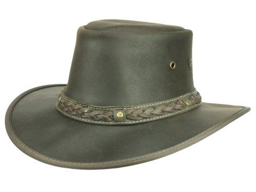 Scippis Homme Chapeau de cuir Coopers marron