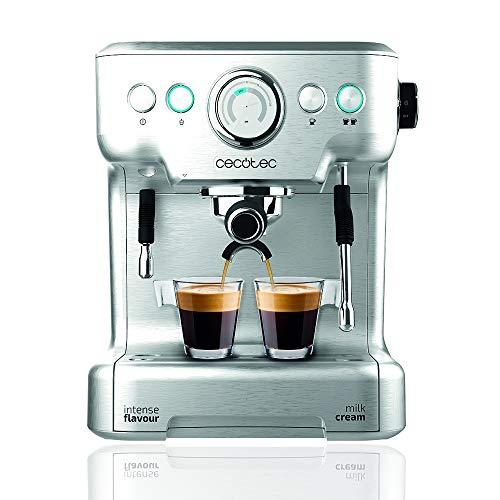 Cecotec Power Espresso 20 Barista Pro espressomachine 2900 W van roestvrij staal Twinfilteropzetstuk 1 tot 2 kopjes 2 verwarmingsblokken warmwatersproeier melkschuim mondstuk 2,7 L watertank in mint groen
