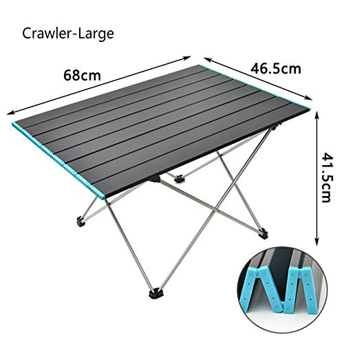 Outdoor Portable Folding Aluminum Alloy Table Picnic Camping Barbecue Table Simple Leisure Aluminum Plate Table Load-bearing Strong Portable Belt (medium)