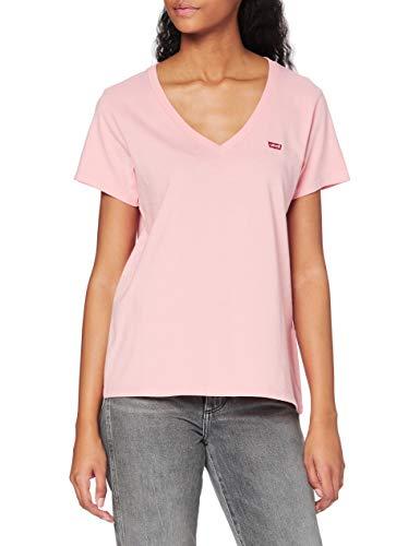 Levi's Vneck Camiseta, Peony, Large para Mujer