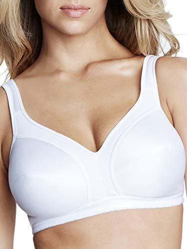 Dominique Comfortable Wire-Free Bra, 48A, White