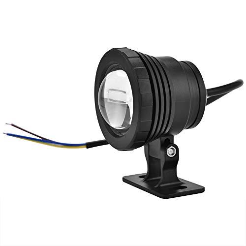 12V 5W RGB Luz LED para Acuario Impermeable Lámpara de Foco LED Luces de Piscina Ajustables Luz de Paisaje de jardín para Estanque de Peces bajo el Agua(Negro)