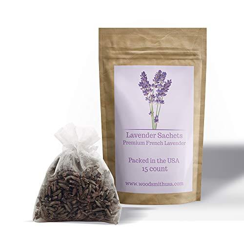 Lavender Sachets |15 Pack| White Sachet Color | Sachets Lavender | Lavender Scented Sachets | Lavender Drawer Sachets