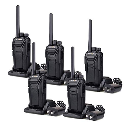 Retevis RT27V MURS Walkie Talkies Rechargeable,Portable Long Range Two Way Radio,5 Special Channel,Hands Free,USB Charging,for Outdoor, Suburban,Farm,Mountains,Forests(5 Pack)