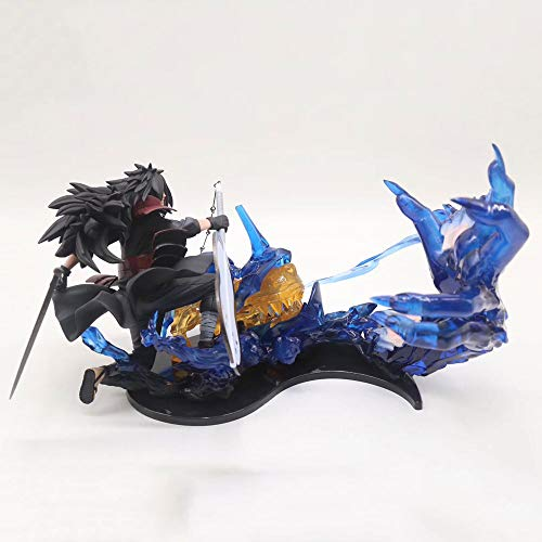 ZDYHBFE ナルトアニメフレームUchiha Madara PVC材料置物絶妙なギフト像人形彫刻玩具装飾モデルの高さ18cm