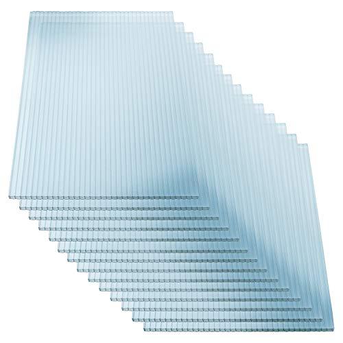KAISER PLASTIC® Xtra-Strong | Gewächshausplatten 14 STK. | Polycarbonat (PC) Doppelstegplatte - Hohlkammerplatte | Gewicht 800g/m² | 1210 x 605 mm - 4mm Stärke | 10,25m²