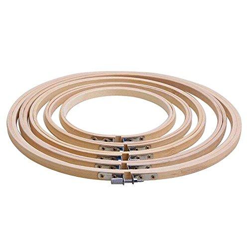 Haobase 5 Größe/Set Stickrahmen Rahmen 13/17/20/23/26 cm Bambus Holz Stickerei Hoop Ringe für DIY Kreuzstich Needlecraft Werkzeug