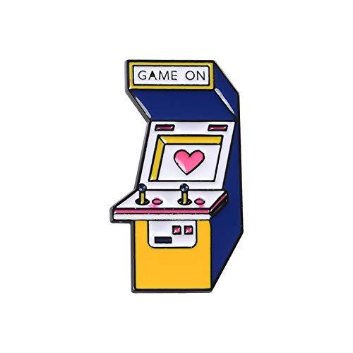 Broche de consola de juegos de dibujos animados, insignias de mochila, broche...