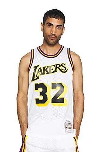Mitchell & Ness NBA Reload Swingman Jersey, La Lakers M. Johnson White, M