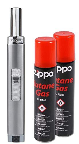 Zippo MPL Chrome Brushed + 2 Flaschen Gas NEU&OVP