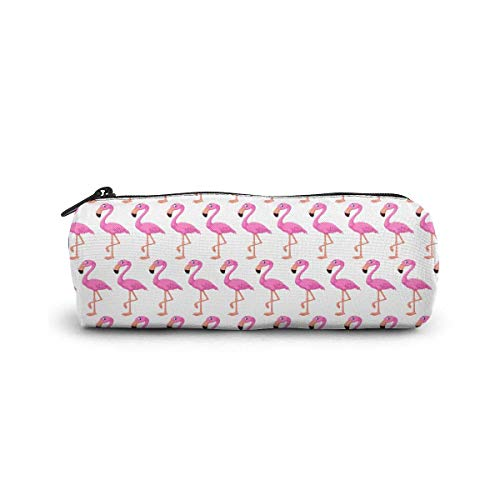 IOPLK Kulturbeutel runde Federmäppchen Kosmetiktasche Federmäppchen Pencil Case/Cosmetic Bag,Bloody Wolf Canvas Stationery Stylish Simple Pencil Bag