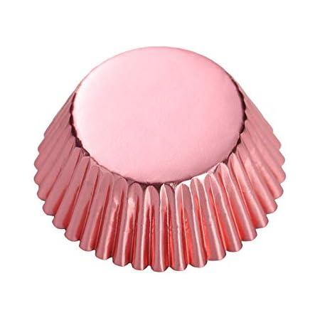 Rose Gold Foil Metallic Paper Muffin Cupcake Liners case Baking Cups 100 pcs,Standard Size 2x1.25 inch