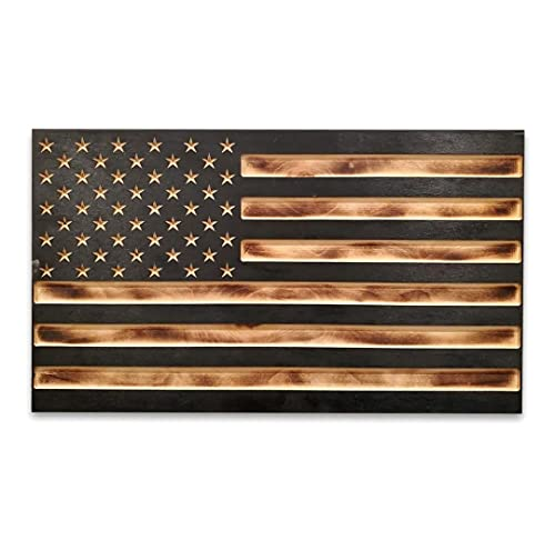 San Tan Woodworks Carved Burnt Wood Concealment American...