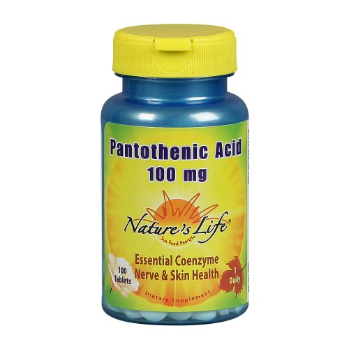 Nature's Life Pantothenic Acid , 100 Mg, 100 Tablets,  (Pack of 2)