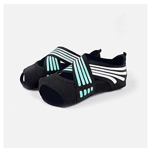 HQQ Elegante Yoga Socken, Ballettsocken, Geeignet for Fitnessübung, Hebebreathable Entwurf (Color : Blue, Size : M)