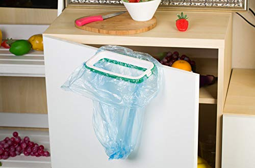 Wffo - Bolsa de Basura Colgante para Armario de Cocina o Puerta, Color Verde
