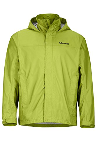 Marmot Men's PreCip Lightweight Waterproof Rain Jacket, Green Lichen, Small
