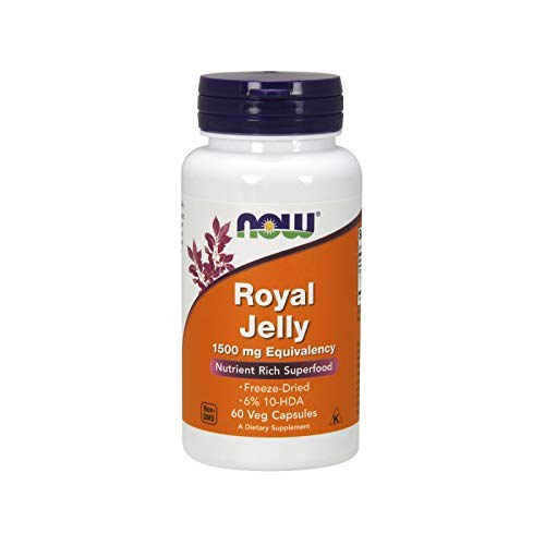 NOW FOODS Royal Jelly, 1500mg Equivalency - 60 vcaps - Pappa reale